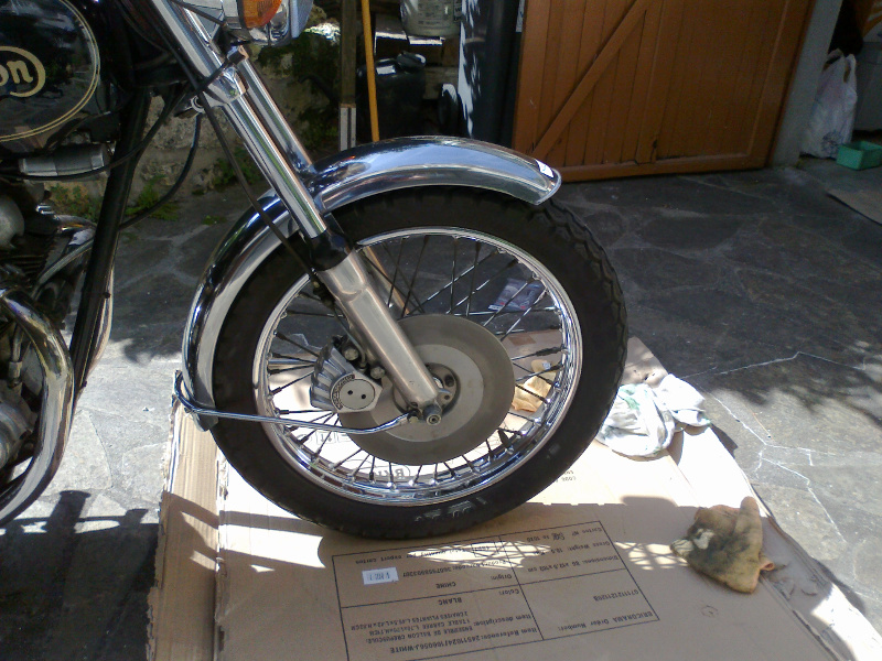 Norton with new front brake