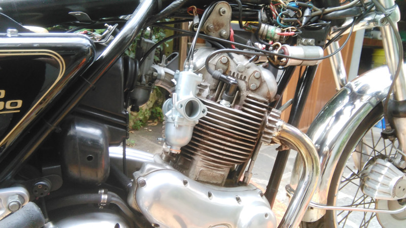 right Amal carburetor